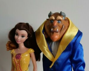 Beauty and the Beast Disney Belle Doll + 2009 Transforming Beast Prince Adam