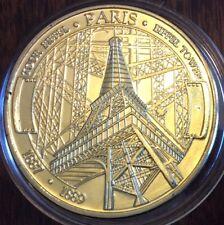 Francia, GP Medallón CONMEMORATIVA TORRE EIFFEL. uncirculated brillante .38 mm .29 G
