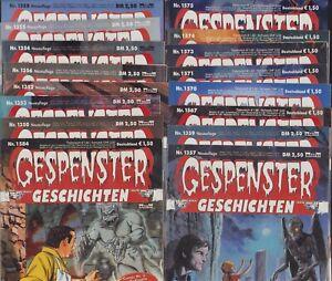 Gespenster Geschichten (Bastei, 1974-2006) 64 Hefte