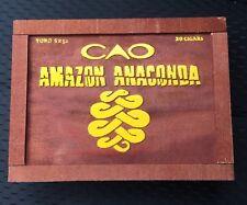 CAO ANACONDA CIGAR BOX VERY COOL & UNIQUE - LOOKS LIKE A CRATE - UNIQUE GRAPHICS