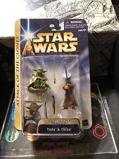 Star Wars Attack Of The Clones Yoda & Chian 2003 Hasbro