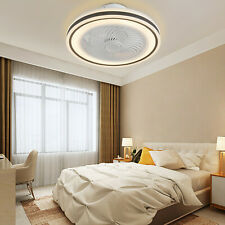 Acrylic Modern Led Ceiling Fan Light Flush Mount Fans for Bedroom with Remote