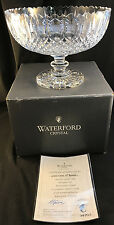 "RARE MIB WATERFORD CRYSTAL MASTER CUTTERS 11"" CENTERPIECE BOWL 295096 w COA"