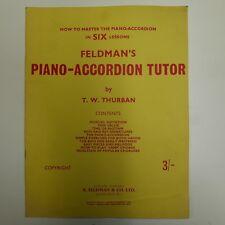 FELDMAN`S piano accordion tutor
