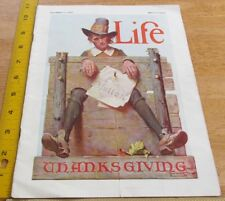 Norman Rockwell Thanksgiving LIFE magazine 1923 Skippy White Rock Ginger ale