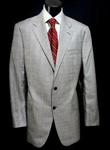 Hickey Freeman Sport Coat 44L 54% Silk Dual Vents Current