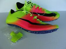 Nike Racing mens athletic shoes neon yellow spikes new size 12