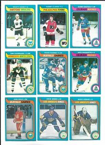 1979-80 OPC Hockey:Lot of 9 different