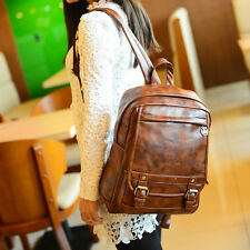 Vintage Womens Backpack Faux Leather School Bag Casual Rucksack Shoulder Bag 056