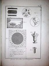c41-7-70 Gravure 1783 encyclopédie Panckoucke - traits occultes ou trompeurs