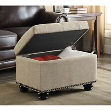Convenience Concepts Designs4comfort Storage Ottoman Tan