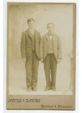 2 Brothers Cab Card Portrait By Morse, Rockland/Thomaston, Maine