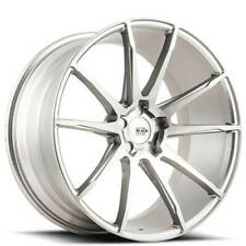 "(4) 19"" Staggered Savini Wheels BM12 Brushed Silver Rims (B30)"