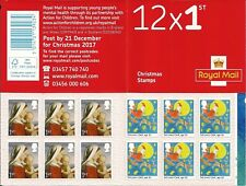 2017 GB QEII 12 x 1ST CLASS CHRISTMAS STAMP BOOKLET WITH CYLINDER NUMBERS W1