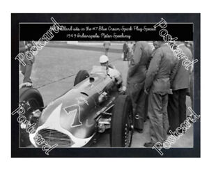 Historic Bill Holland in the #7 Blue Crown Spark Plug Special 1949 Indy Postcard