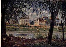 """1953 Russland Künstlerkarte Kunst Art Postcard Künstler Alfred Sisley """"Village"""""""