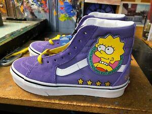 Vans Sk8-Hi The Simpsons Lisa 4 Prez Size US 8 Men (9.5 Women)  New Sneakers