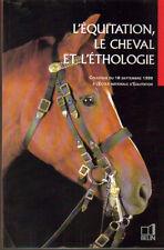 L'équitation, le cheval et l'éthologie Belin 1999, illustrations photos