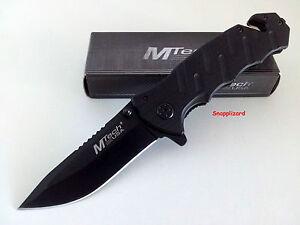 "MTech USA 4-1/2"" Tactical Flipper Folding Pocket Knife MT-424BK EDC Knife"