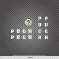 01266 Puch Bicycle Stickers - Decals - Transfers - White