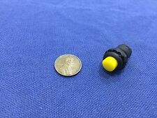 1 Piece Yellow small N/O Momentary 12mm push button Switch round 12v on off C2