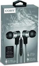 Coby CVE-130-SLV Wavs Metal Tangle Free Earbuds W/Mic