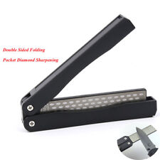 Double Sided Knife Sharpener Diamond Fold Portable Pocket Knife Sharpening Stone