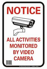 Rk Osha Safety Sign Al95929 Legend Notice All Activities Monitored By Video Ca
