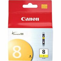 Genuine Canon CLI-8Y Yellow Ink Cartridge Pixma iP6700D MP500 MP530 MP600