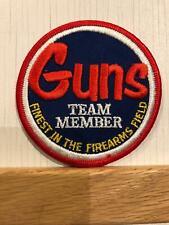 Vintage Round Guns Team Member Guns Magazine Patch Never sewn