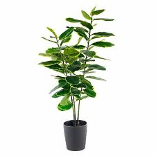 New Large 110cm Indoor Outdoor Garden Potted Artificial Rubber Ficus Plant Tree