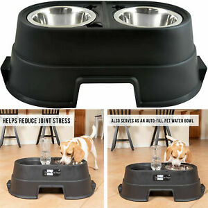Double Comfort Feeder 8-inch Healthy Pet Diner Raised Dog Bowls Elevated Durable