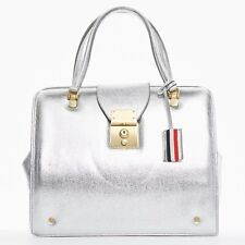 runway THOM BROWNE SS13 Mrs. Thom silver leather gold clasp lock doctor bag