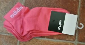 adidas 3 Pack Women's/teens Low Ankle Socks  Pink Sport size 5.5 - 8