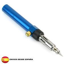 Soldador A Gas Butano Sin Cable Recargable color azul