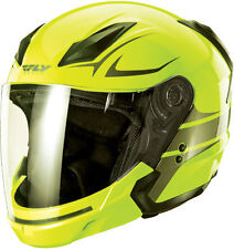 FLY Street TOURIST Helmet VISTA Hi-Viz Yellow Gunmetl X-LARGE Motorcycle 73-8106