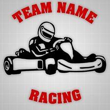 "Go Kart Race Team Graphic, Go Kart Sticker, Trailer Decal, Wall Decal - 22"""