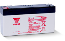 YUASA NP1.2-6 6V 1.2Ah Batteria Ricaricabile Acido Piombo-Sistemi di ALLARME ANTIFURTO