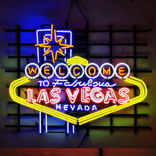 Neon Signs Gift Welcome To Las Vegas Beer Bar Recreation Room Wall Display 32x24