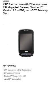 Net10 LG LG800G Black
