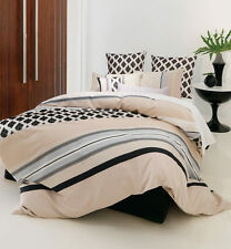 Linen House QUEEN Quilt cover set with European Pillowcases Carmel 5 piece SALE