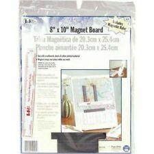 LoRan 8'' x 10'' Soft Ivory Magnet Board & Ruler