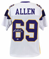 Vikings Jared Allen Authentic Signed White Jersey Autographed BAS Witnessed