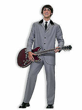British Invasion Beatles Grey 60s Rock Men Costume Medium 61802