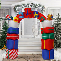 6.6ft Christmas Inflatable Candy Cane Archway Gift Box Arch Airblown Yard Decor