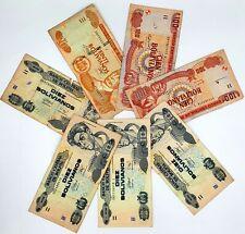 Lot of 7 Banco Central De Bolivia Banknotes 1986(10,20,100)Bolivianos From 1$