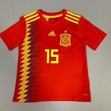 SPAIN 2016/2017 RAMOS HOME FOOTBALL JERSEY CAMISETA BOYS ADIDAS SIZE S
