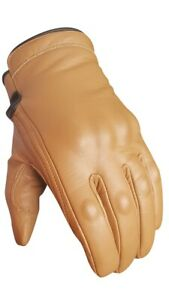 Busa Bikers Gear Short Cruiser Motorcycle Waterproof Gold Tan Bobber Gloves