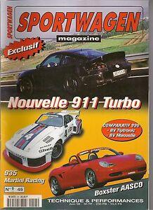 SPORTWAGEN 45 PORSCHE 996 TURBO 935 MARTINI RACING 996 TIPTRONIC & BV MANUELLE