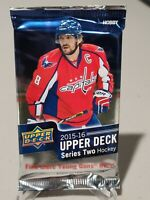 2015-16 UPPER DECK SERIES 2 HOCKEY FACTORY SEALED HOBBY PACK 8 CARDS